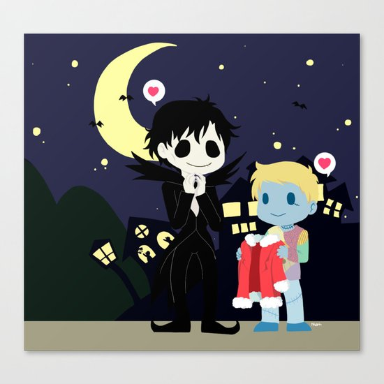 The nightmare before Sherlock Canvas Print