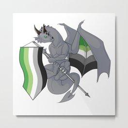 Pride Dragons - Aromantic Flag Metal Print