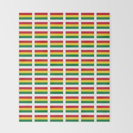 flag of bolivia 2 -bolivian,boliviano,bolivian,Sucre, La Paz. Throw Blanket