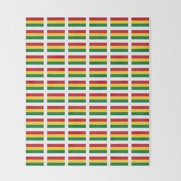 flag of bolivia 2 -bolivian,boliviano,bolivian,Sucre, La Paz. Throw Blanket