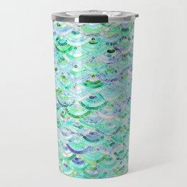 Marble Mosaic in Mint Quartz and Jade Travel Mug