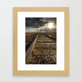 On the Rails Framed Art Print