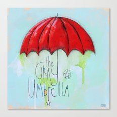 The Gray Umbrella Canvas Print