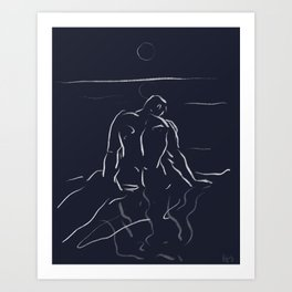 Man of the sea Art Print