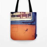 puerto rico Tote Bags featuring Lizard in Puerto Rico by ANoelleJay