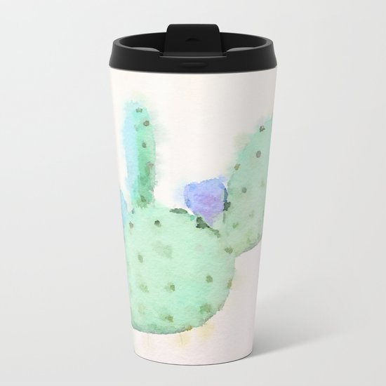 Sweet Cactus Metal Travel Mug