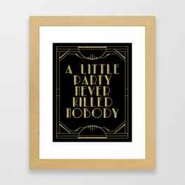 A little party - black glitz Framed Art Print