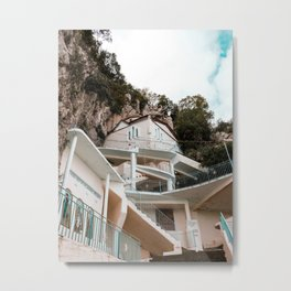 Monastery in the Mountains | Greece Travel Photography Metal Print