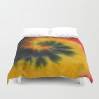 tie dye Duvet Covers featuring Tie Dye  by Mylittleradical