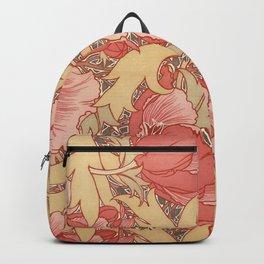 William Morris Poppies Floral Art Nouveau Pattern Backpack