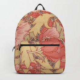 William Morris Poppies Floral Art Nouveau Pattern Backpack