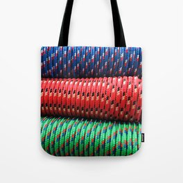 Modern, Trendy, Sophisticated Pattern in Blue, Red & Green Tote Bag