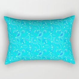 mint neon pattern Rectangular Pillow