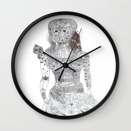 F. Kahlo Wall Clock