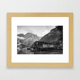 House on Water (Black and White) Framed Art Print