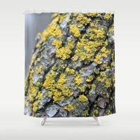 moss Shower Curtains featuring Moss by Katerina Koza