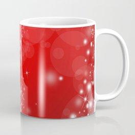 Elegant Red White Abstract Christmas Pattern Coffee Mug