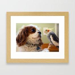 Best Friends Stick Together Framed Art Print