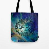 versace Tote Bags featuring Versace Nebula  by RickyRicardo787