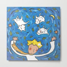 The Little Prince and Sheep Metal Print