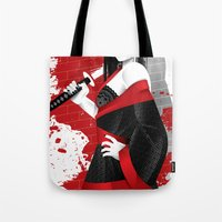 sin city Tote Bags featuring Sin City-Miho by Szoki