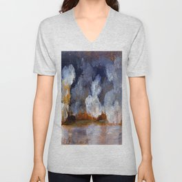 Johan Christian Dahl Smoke from Cannon Shots Unisex V-Neck