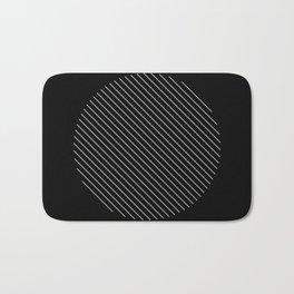 Tilt - Black and White Minimalism Abstract Bath Mat