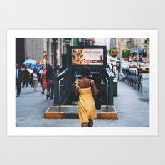Yellow Dress Art Print