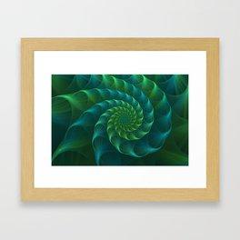 Blue And Green Nautilus Shell Framed Art Print