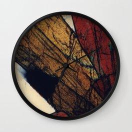 Epidote and Quartz Wall Clock