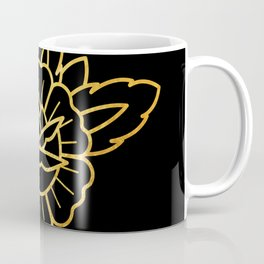 Gold Traditional Rose Coffee Mug