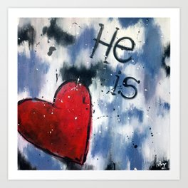 He is Love Art Print