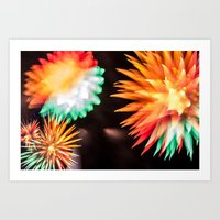philippines Art Prints featuring Fireworks - Philippines 6 by David Johnson