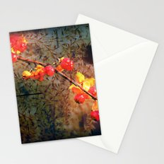 Fields Of Red Berries In The Evening Stationery Cards