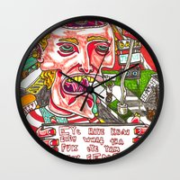 clueless Wall Clocks featuring Star Spangled Stupid by Travis Hess
