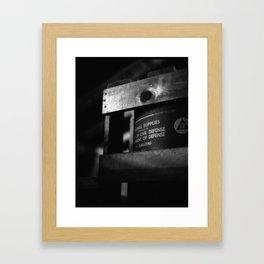 Better Safe Framed Art Print