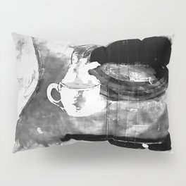 cup of coffee on acousic guitar Pillow Sham