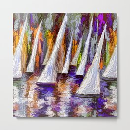 Sails To-Night Metal Print