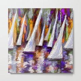 Sails To-Night Metal Print
