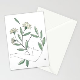 Flower lounging Stationery Cards