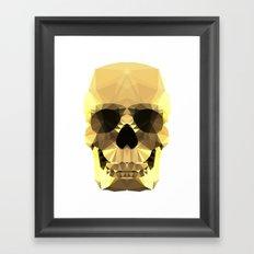 Polygon Heroes - Gold Skull Framed Art Print