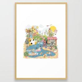 summer vacation Framed Art Print