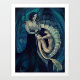 Merman story #3 Art Print