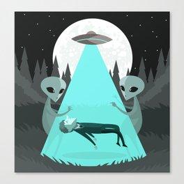 ufo alien abduction Canvas Print