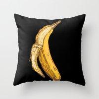 banana Throw Pillows featuring Banana by Ken Coleman