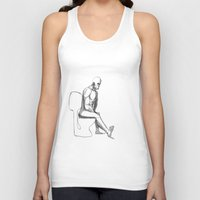 toilet Tank Tops featuring mister toilet by mars clarke
