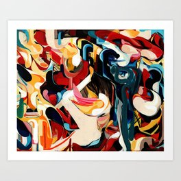 Expressive Abstract Composition painting Art Print