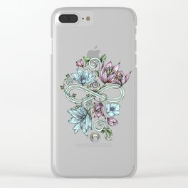 Infinity Moon Garden in Pastel Clear iPhone Case