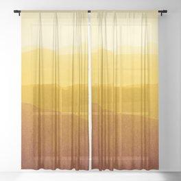 gradient landscape - sunshine edit Sheer Curtain