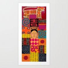 Lady Buddha 2 Art Print